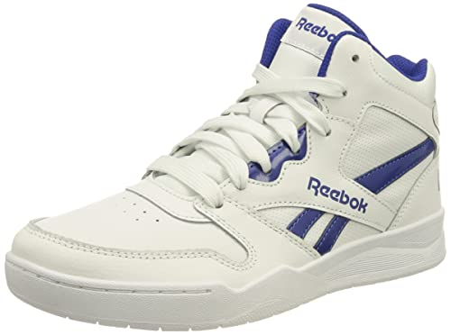 Reebok BB4500 Court Sneaker, FTWR White/FTWR White/Bright Cobalt, 34 EU