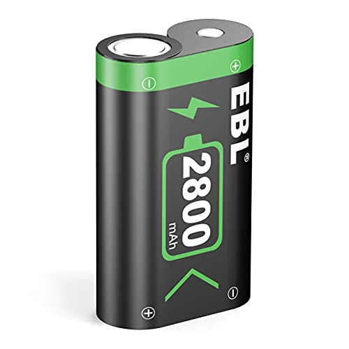 EBL Rechargeable Battery Pack for Xbox One/Xbox One S/Xbox One X/Xbox One Elite Controllers, 2800mAh High Capacity Replacement Xbox Battery (One Pack)