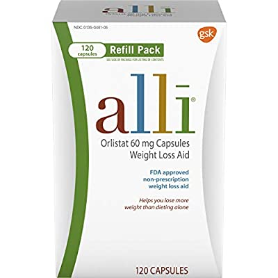 alli Weight Loss Diet Pills, Orlistat 60 mg Capsules