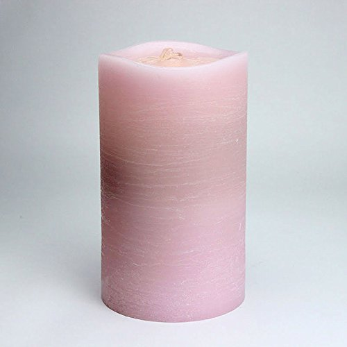 Aquaflame Fountain Candle - 8.5 Inch Pink Scallop Wax Candle - Timer