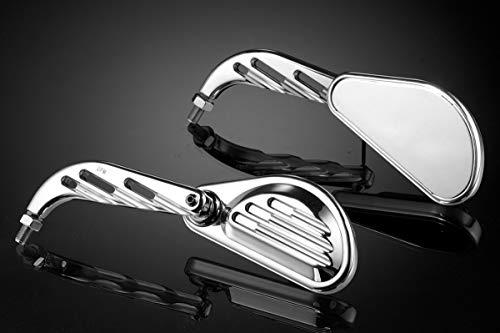 Productos Universales - Kit Espejos 'Classic Groove' (AU170/CP) - Retrovisores Laterales Manillar - Aluminio - Accesorios De Pretto Moto (DPM Race) - 100% Made in Italy