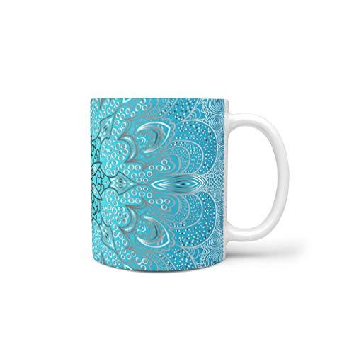 NC83 Mandela Koffiemok met handvat van hoogwaardige keramiek, amandela-kunst, voor meisjes, vrouwen, geschikt voor thuisgebruik