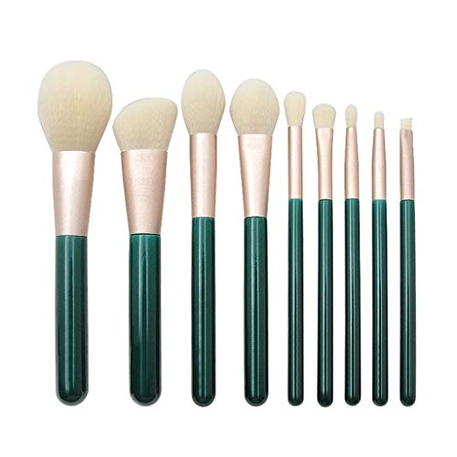 Nourich 9 pcs Maquillage Brush Set Makeup Brushes kit Outils Maquillage Professionnel Yeux Pinceau Professionnel Kits Poils Synthétiques Yeux Maquillage Pinceau Foundation Cosmétique Pinceau (01#)