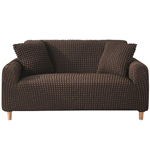 XCYYBB Funda de sofá de Alta Elasticidad, diseño Moderno, para el salón, para Perros y Mascotas Muy elásticas, Antideslizantes, para Perros, Gatos y Otras Mascotas -Marrón 3 Sellador