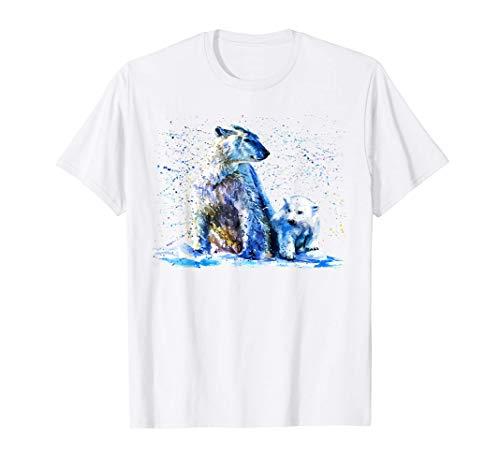 Oso polar, oso polar pintado a mano Camiseta