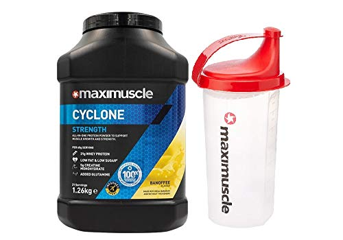 Maximuscle Cyclone - 1.26kg - Banoffee with Shaker
