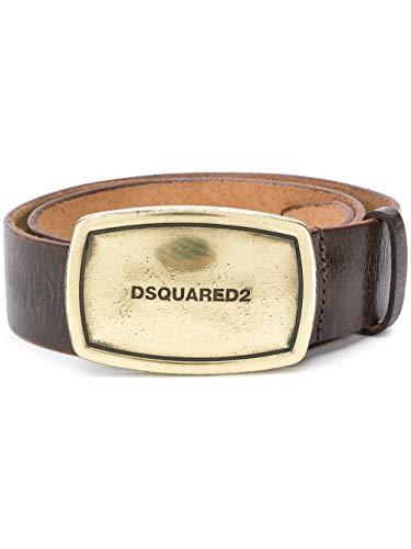 Luxury Fashion | Dsquared2 Heren BEM022301502402M1041 Bruin Leer Riemen | Herfst-winter 19