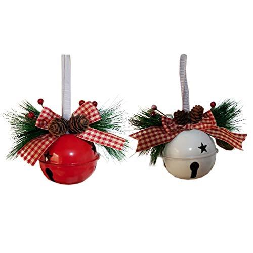Amosfun Adorno de Campana de Navidad Colgante de Cascabel Colgante Campana de Hierro Pintado Adorno de árbol de...