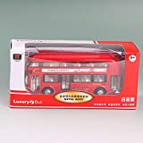 AIOJY Alloy Bus Toy Car Sound And Light Car Model Simulation Double-decker Bus Door Opener Adult Toy Back...