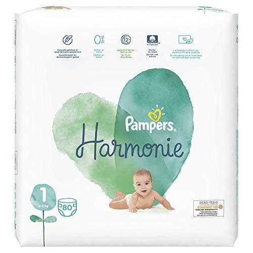 Pampers Harmonie Größe 1, 80 Windeln, 2-5 kg, 2 Stück