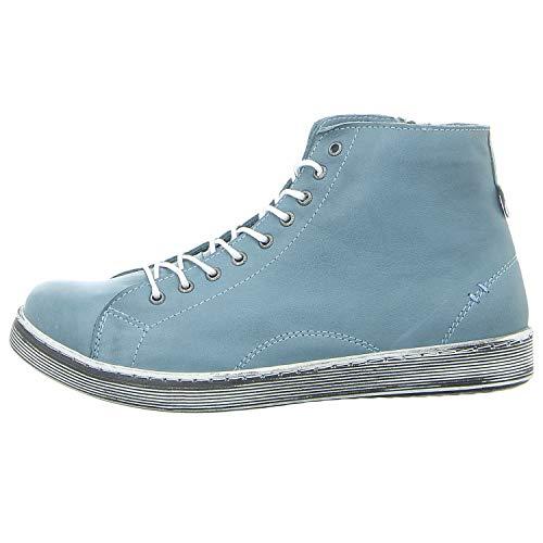 Andrea Conti Damen 0341500 Hohe Sneaker, Petrol, 38 EU