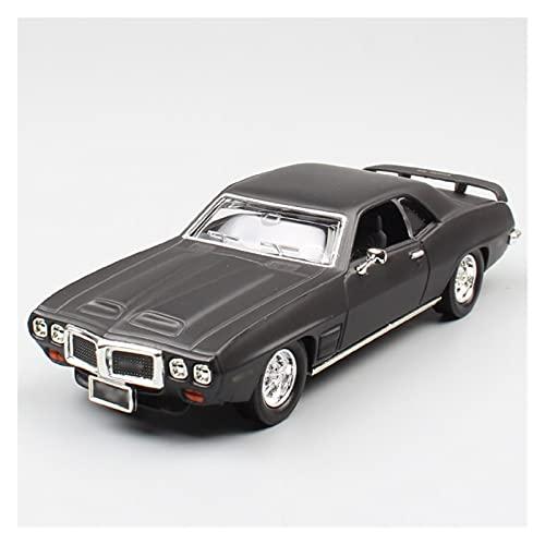 1:43 para Pon-tiac para Trans Am 1969 Modelo De Coche De Aleación Vehículos De Fundición A Presión De Metal Colección De Regalo para Niños...