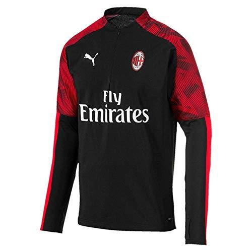 PUMA 2019-2020 AC Milan Training Fleece (Black), Herren, schwarz, Medium Adults - 38-40