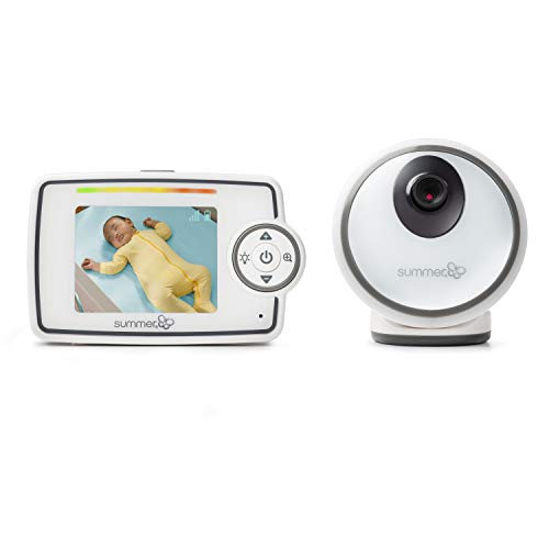 Summer Glimpse Video Baby Monitor with 2.8' LCD Color Screen & Remote Steering Camera - Baby Video Monitor with Remote Digital Zoom & Voice Activated on/Off Technology