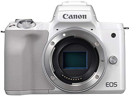 Canon キヤノン ミラーレス一眼カメラ EOS Kiss M(ホワイト) EOSKISSMWH-BODY-A