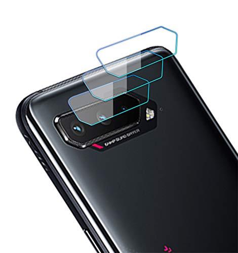 NOKOER Protector Cámara para ASUS ROG Phone 5/5 Pro, [3 Pack] Protector de Pantalla Cámara, 2.5D Película de Protección de Vidrio Templado Resistente a Los Arañazos - Transparente