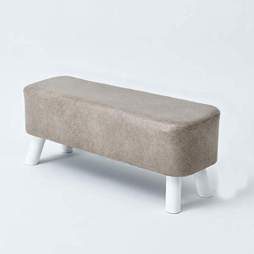 FSYGZJ Faux Leather Footstool Pouf Padded Seat Upholstered Cube with Wood Legs For Living Room,Ottoman Footstool,Bedroom S 81x28x33cm(32x11x13inch)