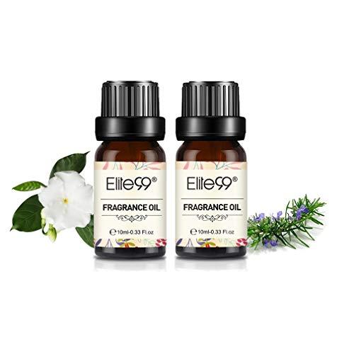 Elite99 Aceites de Fragancia, Aceites Esenciales para Humidificadores, Aceites de Aromaterapia de 10ML - Gardenia, Romero