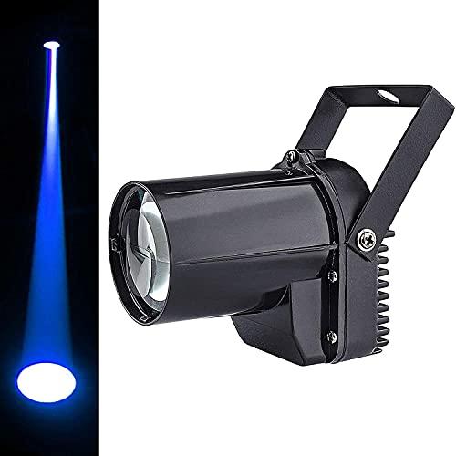Luz led de pinspot, foco de bola de espejo de luz de pinspot de haz de 3w azul para bola de espejo de discoteca