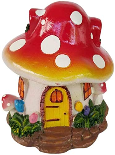DDGD Resin Crafts Arts Red Mushroom Decorations Sculptures Statues Figurines for Home Office Wedding Decor