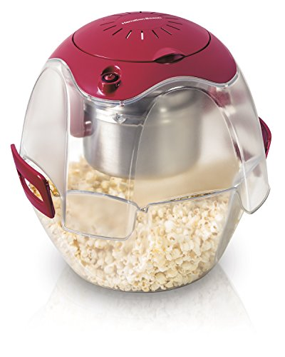 hamilton beach popcorn poppers Hamilton Beach Electric Theater Style Party Popcorn Popper Machine, 6 to 24 Cups, Base Doubles as Serving Bowl, Nests for Easy Storage, Red (Discontinued)