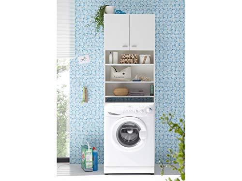 Überbauschrank Waschmaschinenüberbau Wäscheschrank Schrank Badmöbel Newport I