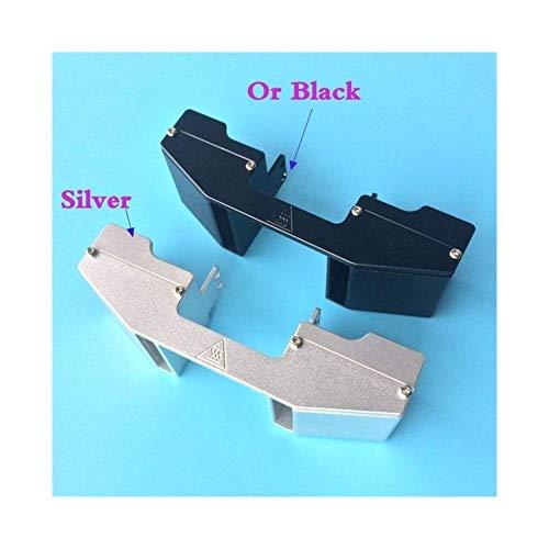 1pcs Aluminum Extruder Head Metal Fan Duct/Housing/Bracket Fit For Ultimaker 2 / Ulltimaker2+ Extended 3D Printer (Size : Black) (Size : Silver)