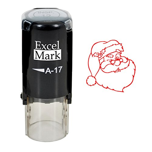 Self-Inking Christmas Rubber Stamp - Santa - Red Ink