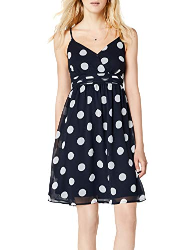 ONLY Damen onlJIB S/L Short Dress WVN NOOS Kleid, Mehrfarbig (Night Sky AOP:Big White Dots), 34