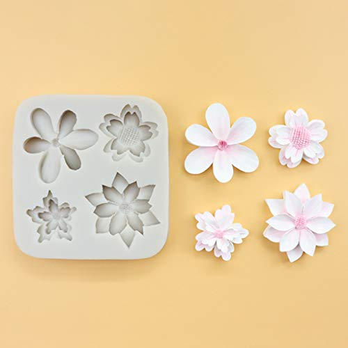 Daisy Cherry Flower Silicone Mould Cake Chocolate Decorating Fondant Sugarcraft Gum Paste Clay Mould