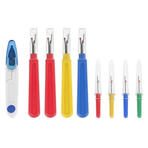 Akozon 9 in 1 tagliafili per cuciture, con manico in plastica, per cucire