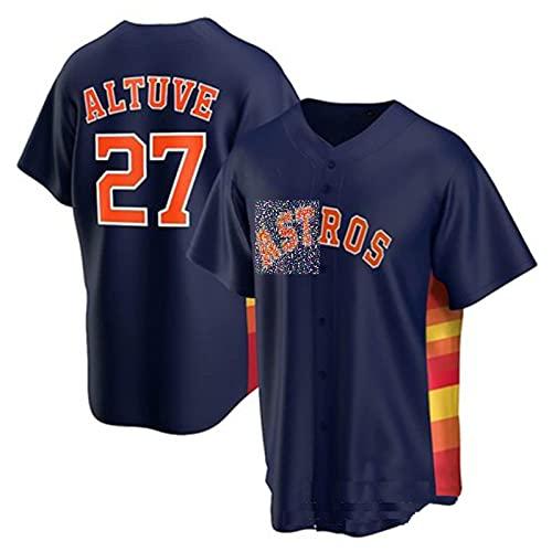 ZZZT Ḁḷṫṳṽḕ # 27 ḁṡṫṙṍṡ Camisetas de béisbol, Uniformes de Estrellas de Tela Estirable y Transpirables, Hombres y Mujeres, Bordados, Transpirables y de Secado rápido, reg 5-XXXL