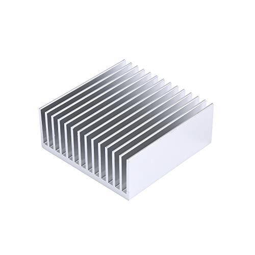 2Pcs 50mm Aluminum Heat Sink 50 x 50 x 20 mm/ 1.97 x 1.97 x0.78 Inch Heatsink 14 Fin for Peltier,Chipset and CPU Cooling -Silver