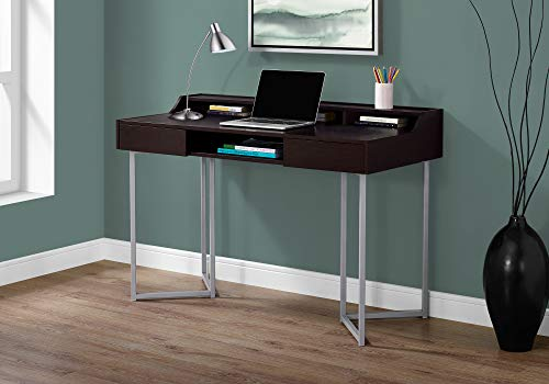 Monarch Specialties Computer Desk-Modern Contemporary Style-Laptop Table for Home & Office with Hutch Drawers and…