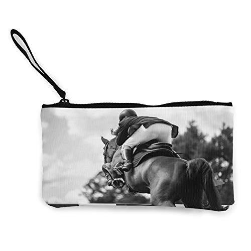 Bolsa de aseo multiusos para mujer con caballos de carreras ecuestre