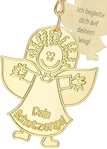 Schutzengel Schlüsselanhänger 2 Stück aus Metall und Emaille – Geschenk Glücksbringer für deinen Lieblingsmensch