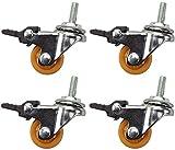 Ruedas para muebles con freno de nailon silencioso, 120 kg, universal, con rodamiento para cuna o zapatero (4 unidades)