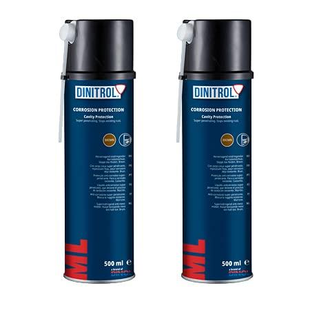 2 aérosols Dinitrol ML pour joints, pénétrateur, résistant à la rouille, agents de conservation pour les profils fermés, 500 ml