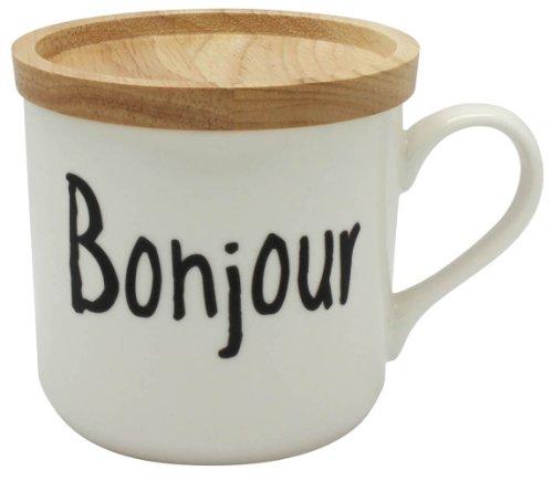 ヴィヴル 蓋付きマグカップ Bonjour 1個箱BOX 028701
