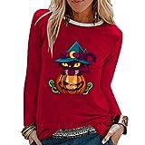 SLYZ Automne Et Hiver Nouvelles Dames Halloween Nouveau T-Shirt à Manches Longues De Beauté Fraîche Et Douce