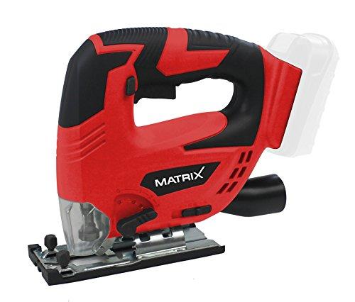 Matrix 511010574 AKJS 20 T X-ONE Akku Stichsäge 20 V, Rot/Schwarz