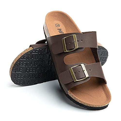 Sandalias Mujer Planas Zapatillas Verano Chanclas Con Hebilla Mules Zapatos Soporte Del...