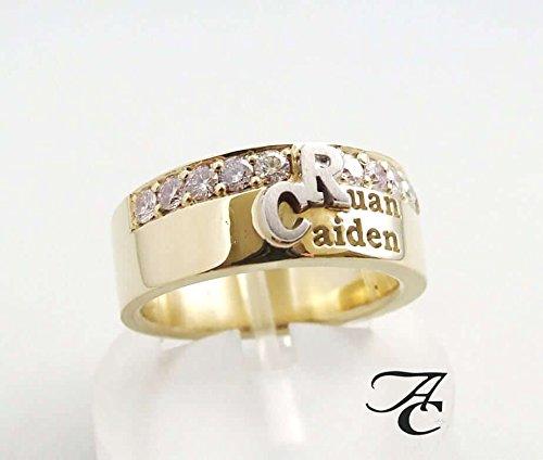 Gouden ring speciaal met eigen initialen