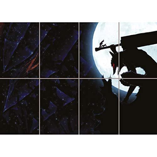 Doppelganger33 LTD Berserk Guts Moon Manga Anime Home Decor Wall Art Multi Panel Poster Print 47x33 inches