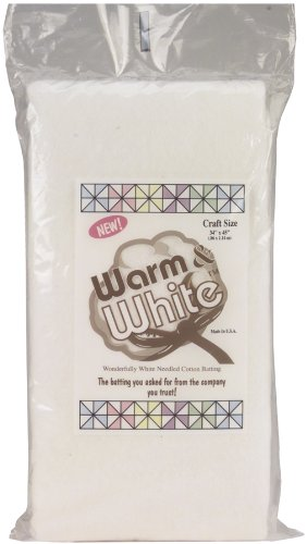 "Warm & White Cotton Batting-Craft Size 34""X45"""