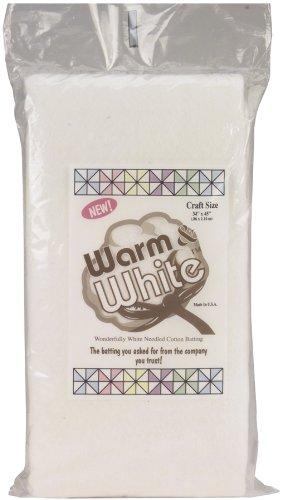 """Warm & White Cotton Batting-Craft Size 34""""X45"""""""