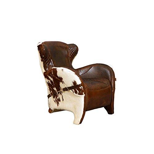 Designsessel Buffalo Vintage-Leder Kuhfell Echtleder Sessel