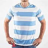 Maillot de rugby 2019 Japan World Cup Argentine Home Training Football Sweat-shirt à manches courtes pour étudiants, enfants et adultes -  - Large