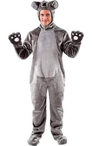 ORION COSTUMES Unisex Riesiger Grauer Koala Bär Overall Tierkostüm