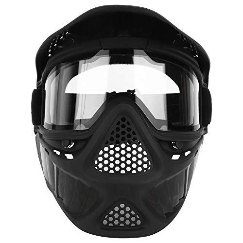 VGEBY Máscara de Paintball, máscaras de Airsoft para Exteriores Equipo de protección táctica de Cara Completa con Gafas Seguridad de protección de Paintball Máscaras de Casco de ala Grande ✅